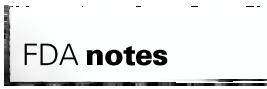 FDA Notes